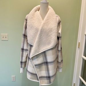 Abercrombie & Fitch open fleece cardigan